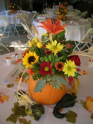 Fall Wedding Centerpiece