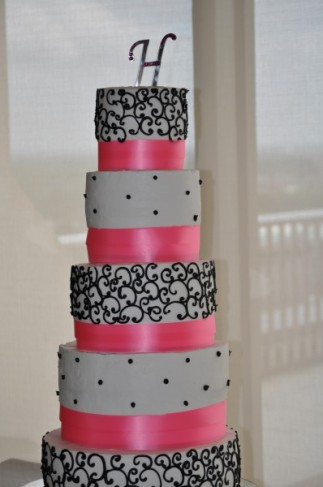 Black and Pink Wedding Cake Black and Pink Wedding Cake Share
