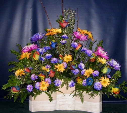 Rainbow Of Color Arrangement