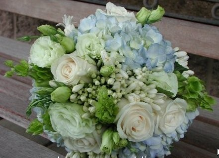 Wedding Party Photo Gallery Blue and White Bouquet Blue and White