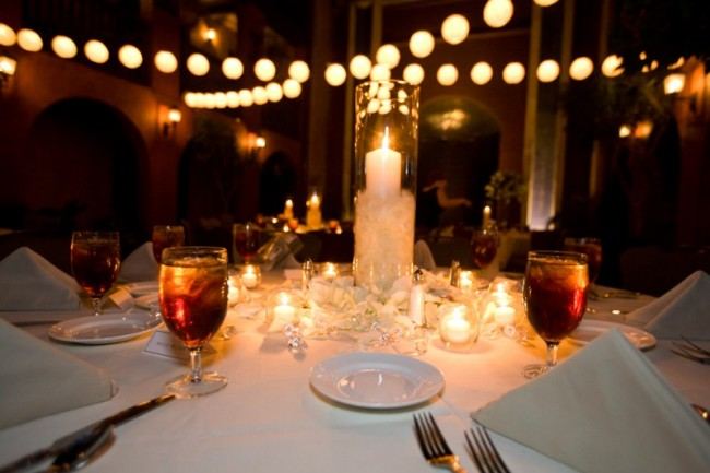 Gorgeous Table Setting At Wedding Reception