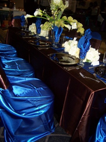 Photo Gallery - Photo Of Brown & Royal Blue Reception