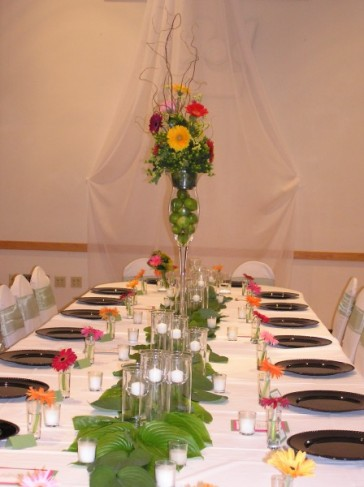 Wedding Party Photo Gallery Head Table Floral Arrangement