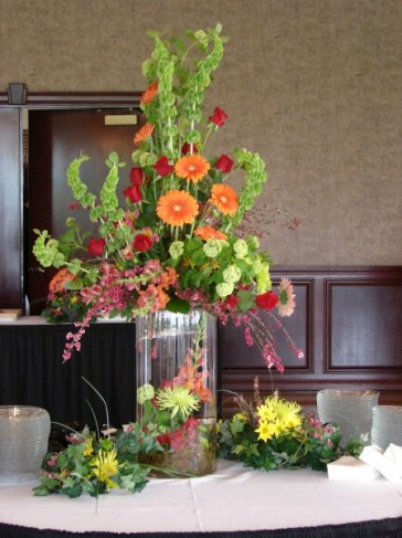 Colorful Wedding Reception Centerpiece For The Appetizer Table