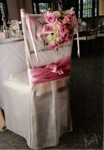 Reception Decor For The Bride's Chair