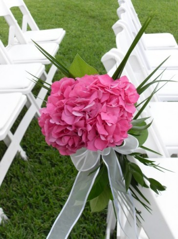 Hydrangea Chair Decorations
