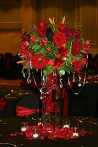 Red Wedding Reception Centerpiece Red Wedding Reception Centerpiece Share