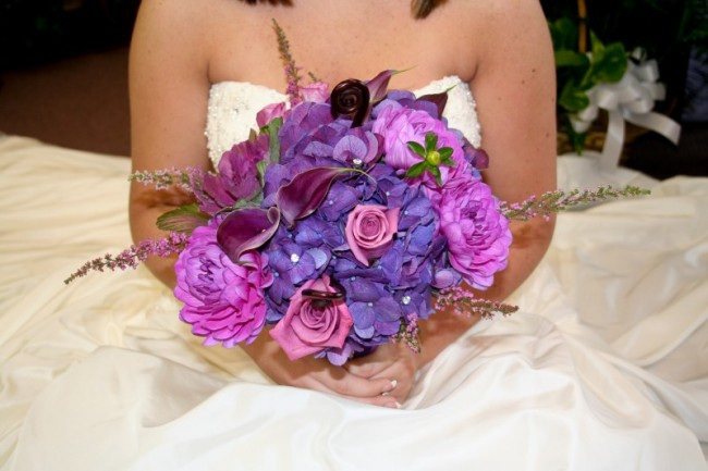 Pretty In Purple Wedding Bouquet