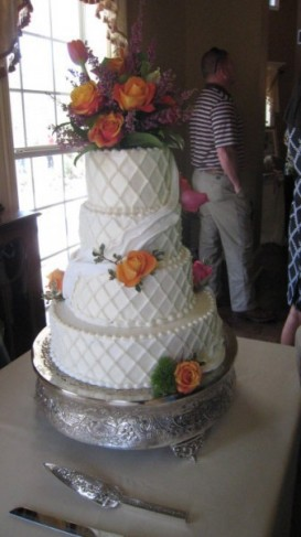 Gorgeous 4 Tiered Wedding Cake
