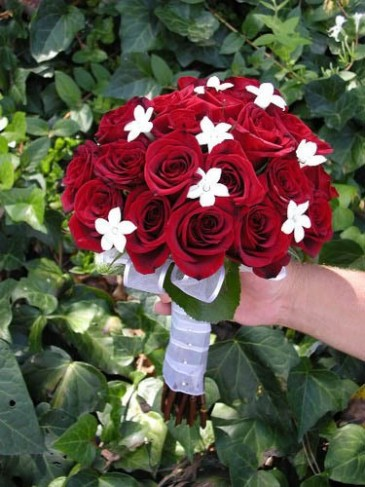 Classic Red & White Bridal Bouquet