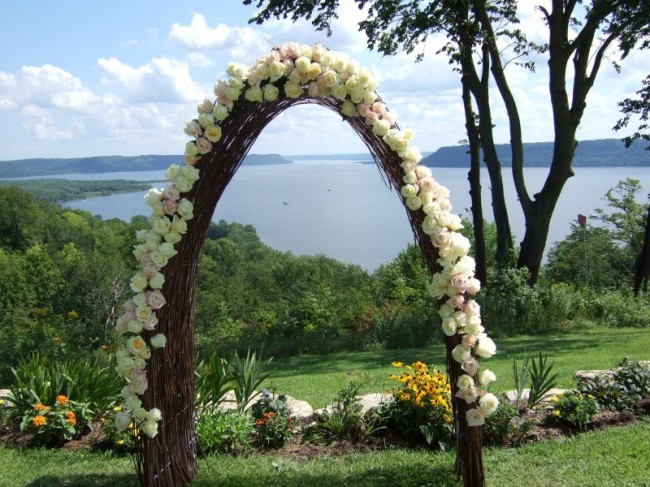 Rose Arch overlooking Lake Pepin, WI