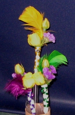 Wedding Party Photo Gallery Mardi Gras Themed Boutonniere