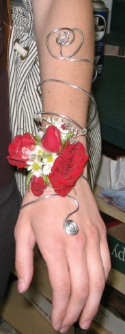 Red Prom Corsage