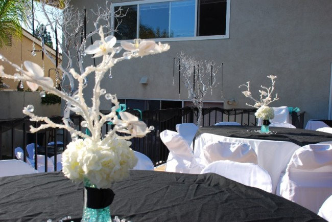Wedding Party Photo Gallery White Hydrangea Centerpieces