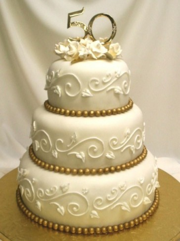 photo gallery 50 golden years anniversary cake. Black Bedroom Furniture Sets. Home Design Ideas