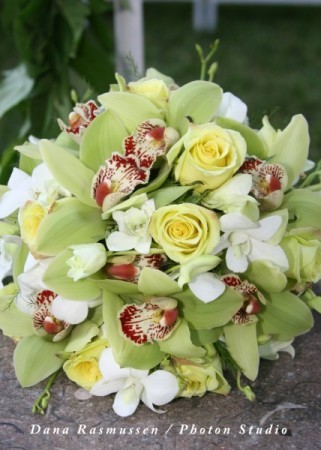 Tropical and Classic Bridal Bouquet