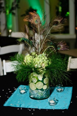 Wedding Party Photo Gallery Beautiful Peacock Centerpiece