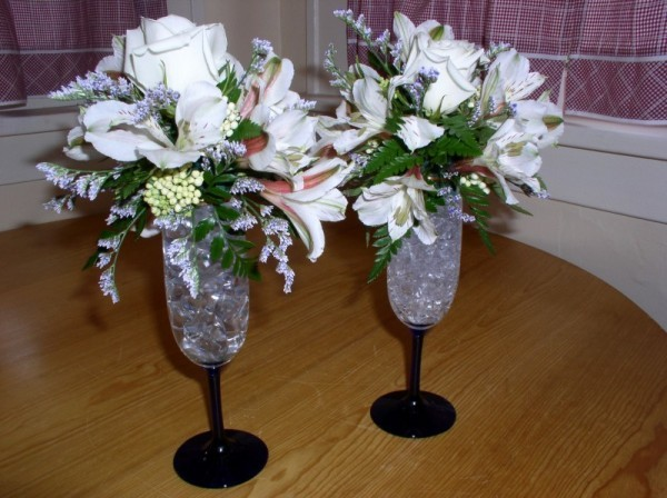 Wedding Party Photo Gallery Champagne Glass Floral Accessories