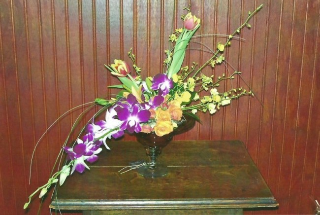 Beautiful Purple & Yellow Arrangement