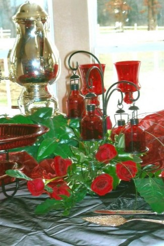 Beautiful Red Reception Decor