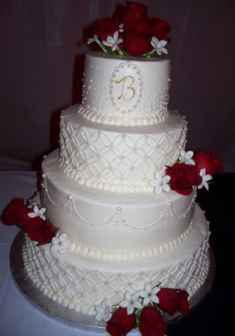 4 Tiered Round Wedding Cake