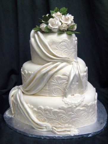 Hearts and Lace Wedding Cake Hearts and Lace Wedding Cake Share