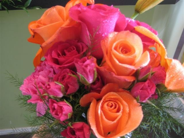 Wedding Bouquets Pink And Orange : Photo gallery of pink orange wedding bouquet