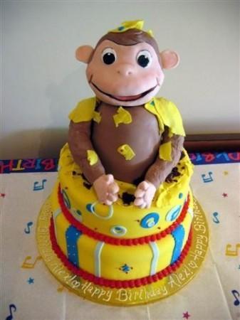 Curious George Birthday Cake Walmart