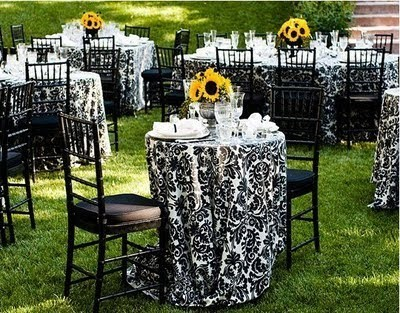 ideas color inspiration black white damask with accents