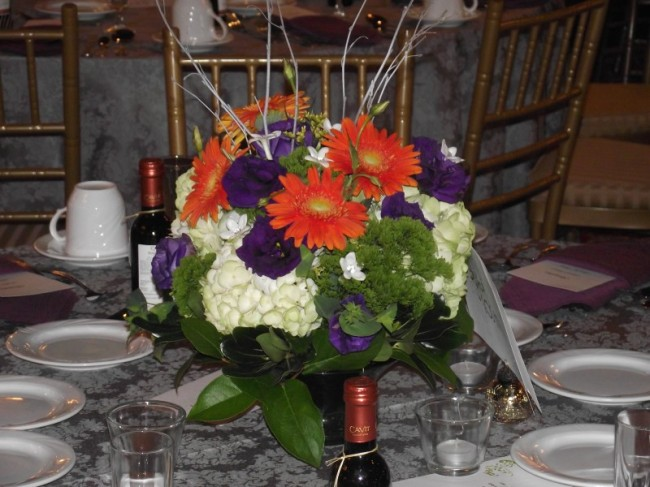 Mixed Arrangement Wedding Centerpiece