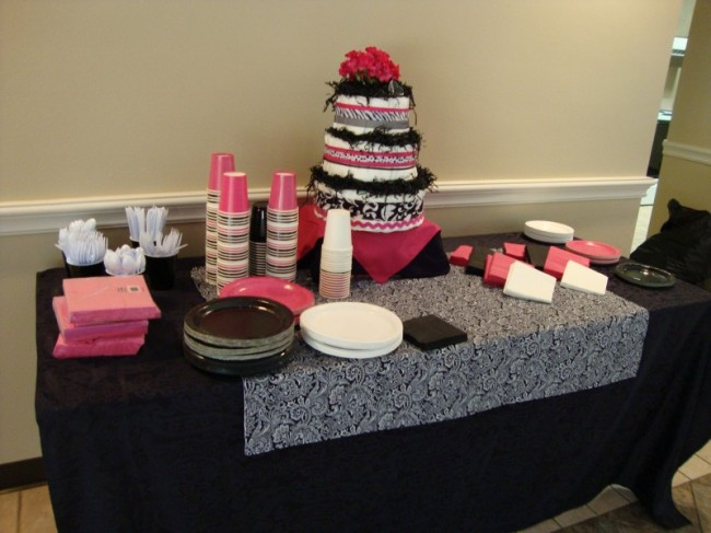 photo gallery photo of baby shower table setup