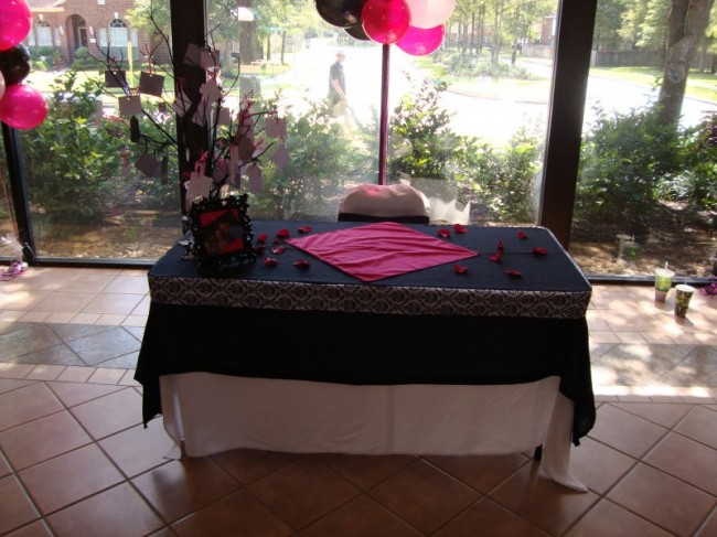 photo gallery photo of baby shower setup