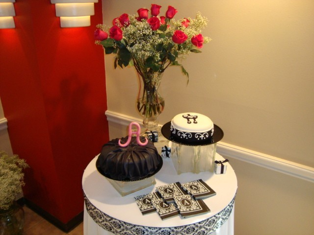 photo gallery photo of baby shower cake table
