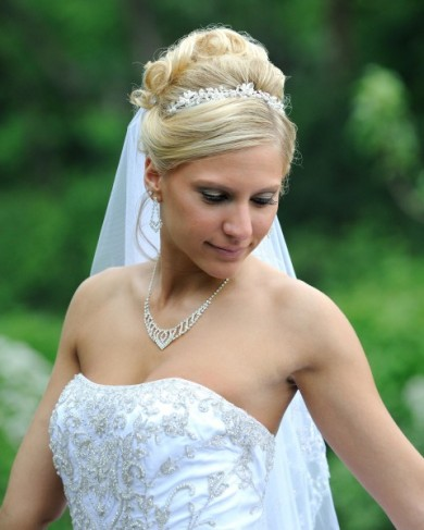 Gorgeous Bride In Her Wedding Gown
