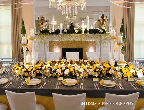 Yellow Event Decor