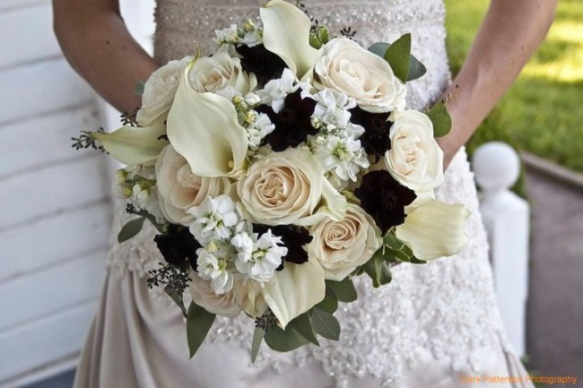 Classic Black & White Wedding Bouquet