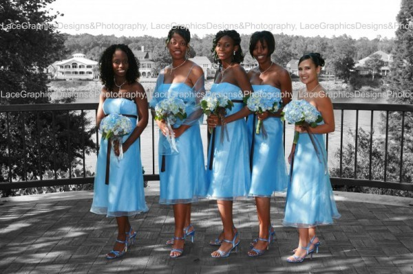 Wedding Party Photo Gallery Blue Bridesmaids Dresses
