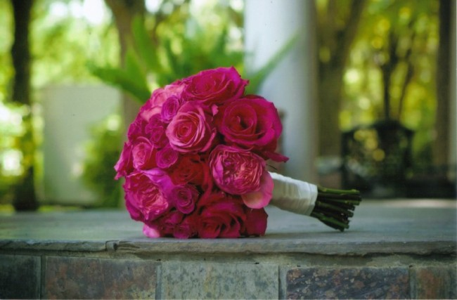 Pretty in Pink Wedding Bouquet