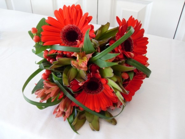 Orange Daisy Wedding Bouquet