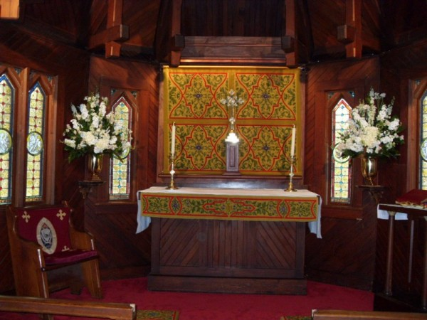 White Altar Arrangements