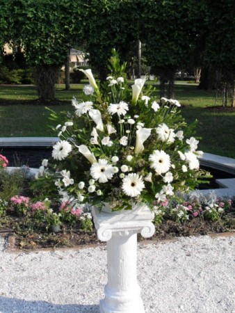 Gorgeous White Altar Arrangement