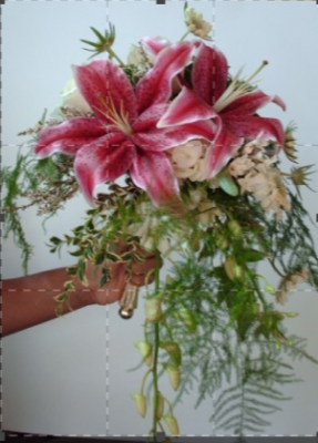 Star gazer Bridesmaid Bouquet
