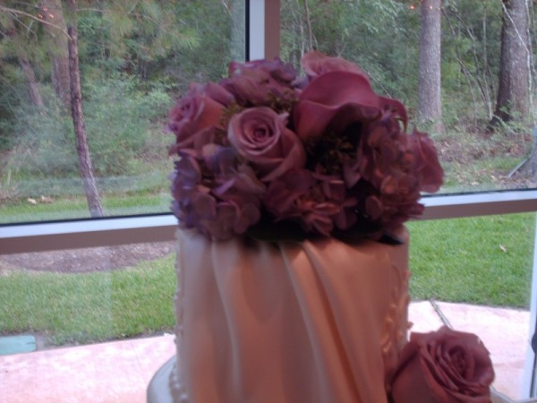 Wedding Flowers As Cake Topper