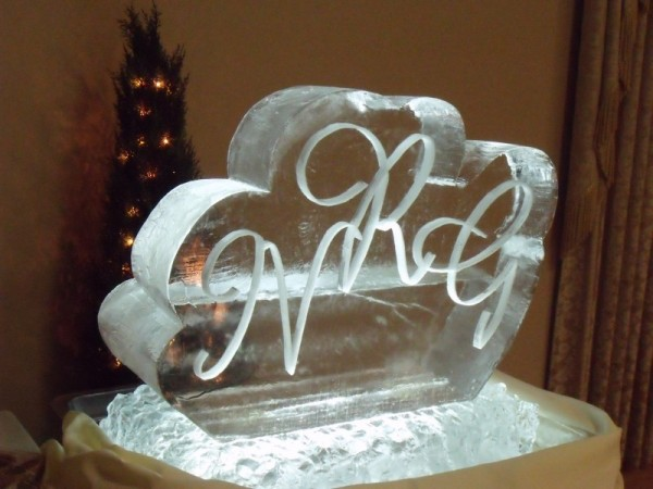 Lettering In Ice Sculpture