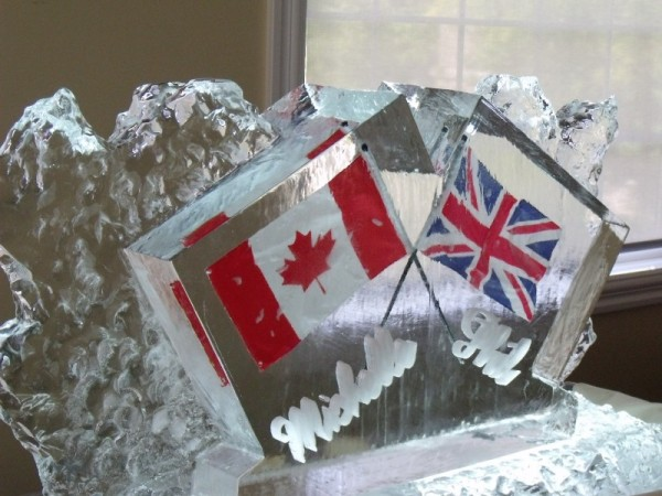 Flag Ice Sculptures