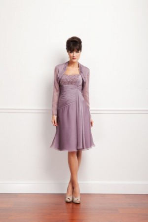 Short Formal Wear Gown With Shrug