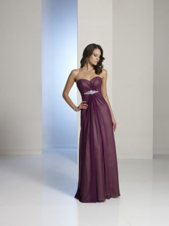 Sweetheart Purple Bridesmaid Dress