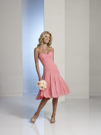 Sweetheart Pink Bridesmaid Dress