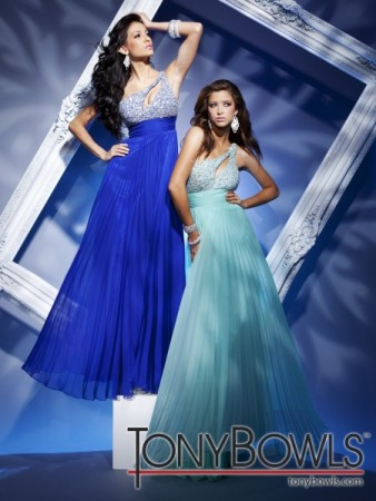 Blue  Shoulder Dress on 112503 Available In Aqua Or Royal Blue Chiffon One Shoulder Share