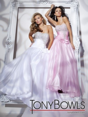 STYLE 112516 AVAILABLE IN WHITE OR PINK TAFFETA AND TULLE